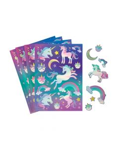 Iridescent Unicorn Sticker Sheets