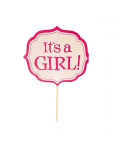 Its a Girl Cupcake Sticks