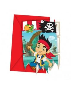 Jake and the Neverland Pirates Die Cut Invitations