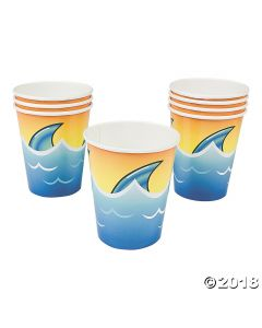 Jawsome Shark Paper Cups