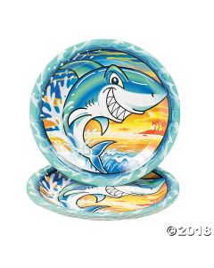 Jawsome Shark Paper Lunch Plates