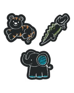 Jumbo Chalkboard Safari Animal Cutouts