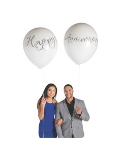 "Jumbo Happy Anniversary 36"" Latex Balloons"