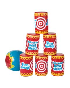 Jumbo Inflatable Can Beach Ball Toss Game
