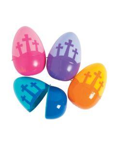 Jumbo Three Cross Plastic Eggs