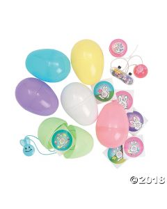 Jumbo Toy-filled Pastel Plastic Easter Eggs