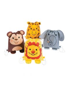 Jungle Animal Drawstring Bags