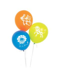 "Jungle Baby Shower 11"" Latex Balloons"