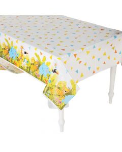 Jungle Baby Shower Plastic Tablecloth