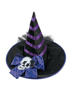 Kids' Black and Purple Witch Hat