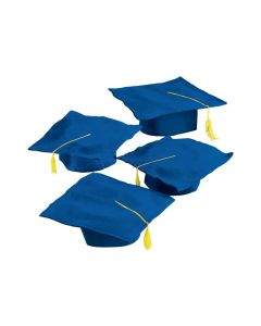 Kids' Blue Graduation Felt Mortarboard Hats
