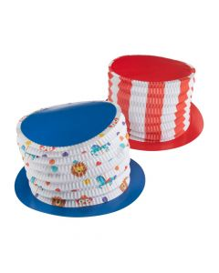 Kid's Bright Carnival Accordion Top Hats