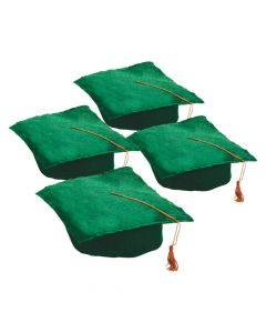 Kids' Graduation Felt Green Mortarboard Hats