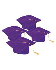 Kids' Purple Graduation Felt Mortarboard Hats