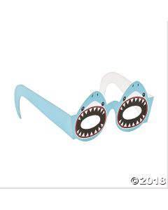 Kids Shark Paper Glasses