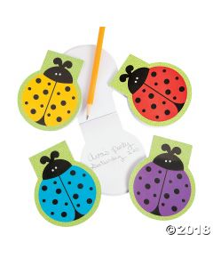 Lady Bug Die Cut Notepads