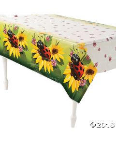 Ladybug Plastic Tablecloth