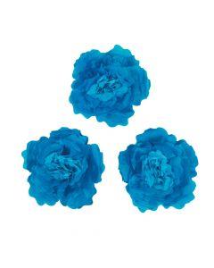 Large Blue Tissue Flower Decorations