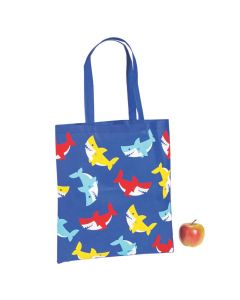 Large Bright Shark Totes