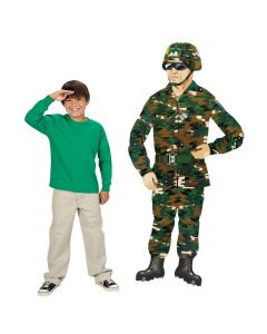 Large Camouflage Army Guy Jointed Cutout