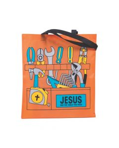 Large Construction VBS Toolbox Tote Bags