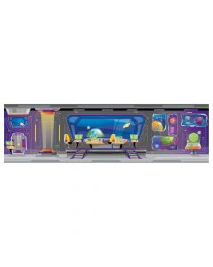 Large God's Galaxy VBS Spaceship Backdrop
