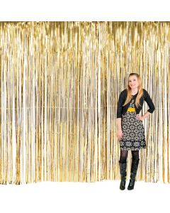 Large Gold Foil Fringe Door Curtain