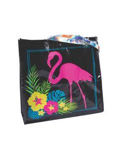 Large Luau Flamingo Tote Bags
