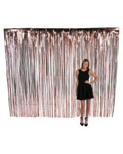 Large Rose Gold Foil Fringe Door Curtain