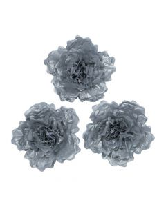Large Silver Tissue Flower Decorations