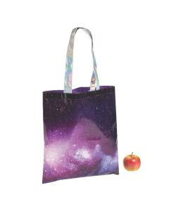 Large Space Tote Bags with Iridescent Handles