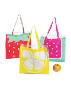 Large Transparent Fruit Tote Bags