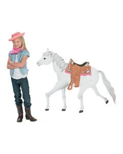 Large White Horse Jointed Cutout