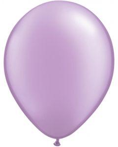 Lavender 12cm Pearl Plain Round Latex Balloon