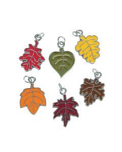 Leaf Enamel Charms