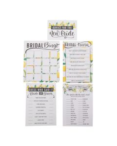 Lemon Bridal Shower 5 Game Activity Pack for 25