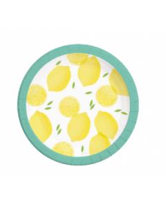 Lemon Fresh Paper Plates Large