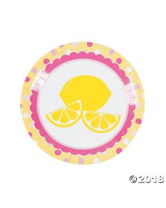 Lemonade Party Paper Dinner Plates