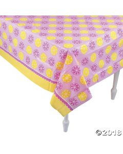 Lemonade Party Plastic Tablecloth