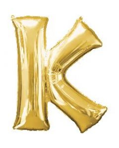 Letter K Gold Supershape Foil Balloon