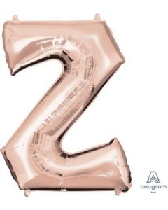Letter Z Rose Gold Supershape Foil Balloon