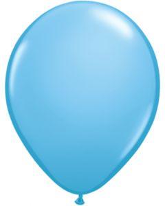 Light Blue 12cm Pearl Plain Round Latex Balloon