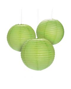 Lime Green Hanging Paper Lanterns