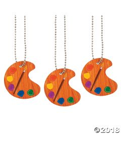 Little Artist Dog Tag Necklaces