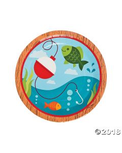 Little Fisherman Paper Lunch Plates