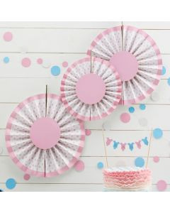 Little Lady Mini Mister Round Hanging Decorations Pink