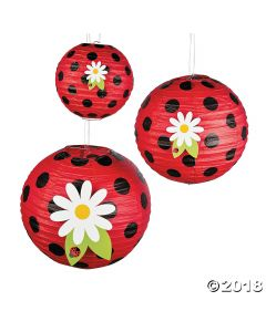Little Ladybug Hanging Paper Lanterns
