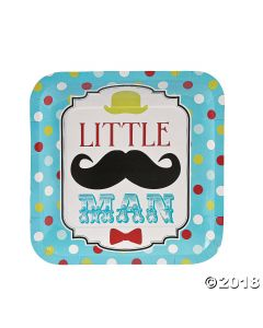 Little Man Paper Dinner Plates