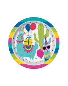 Llama Birthday Paper Dinner Plates