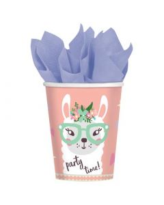 Llama Cups 8 Paper Cups